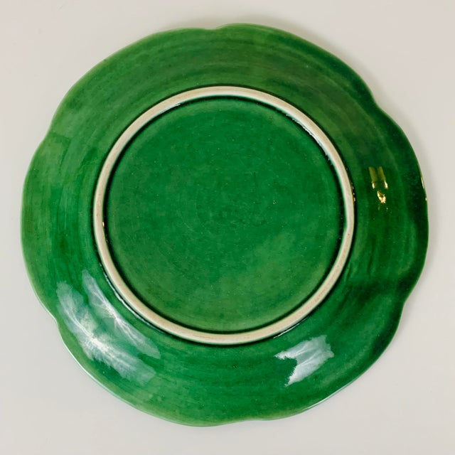 Green Vintage Williams Sonoma Green Cabbage Plates - Set of 4 For Sale - Image 8 of 10