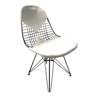 1970s Vintage Eames Dkx-2 Vintage Wire Chair For Sale