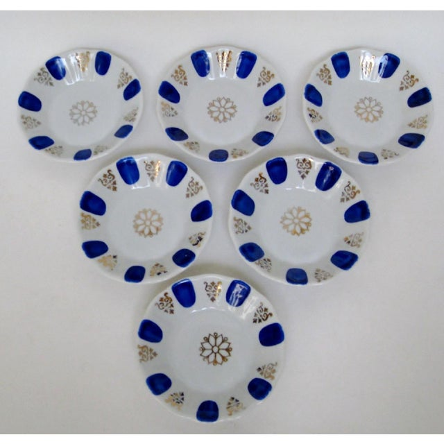 Late 20th Century Porcelain Dipping Bowls, Set of 6 For Sale - Image 5 of 5