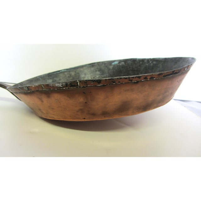Antique French Copper Skillet - Image 4 of 9
