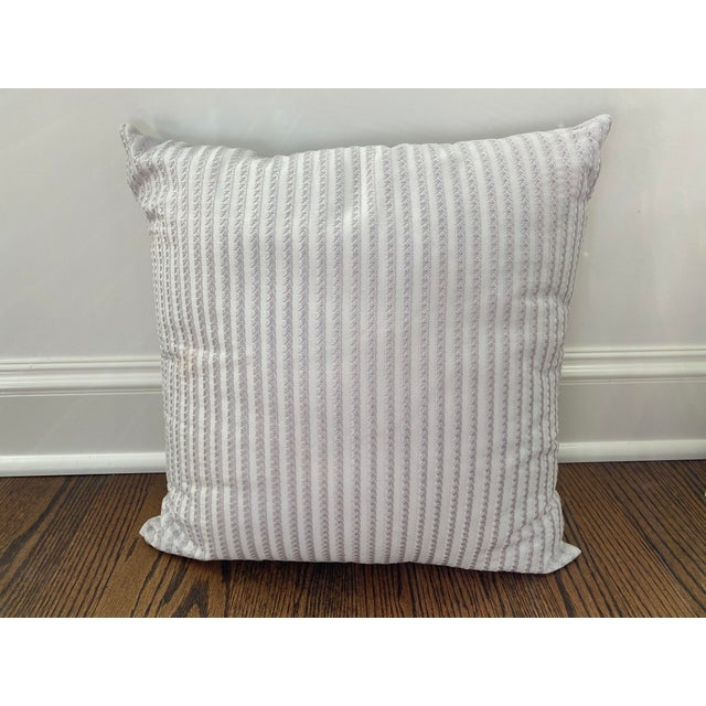 Transitional Frette Throw Pillows - a Pair For Sale - Image 3 of 5
