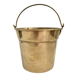 Solid Brass Vintage Ice Bucket