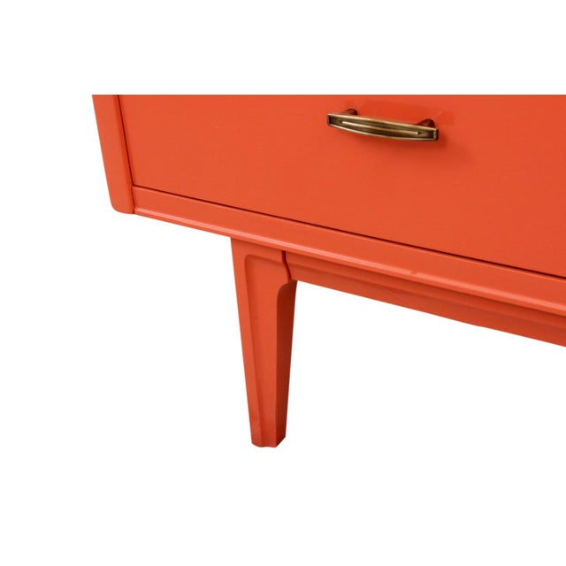 1960s Vintage Mid Century Nine Drawer Chest For Sale - Image 5 of 8
