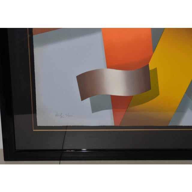 Daniel Heidi Modernist Abstract Serigraph. Signed Heidi. The serigraph is from a limited edition of 300 and is in very...