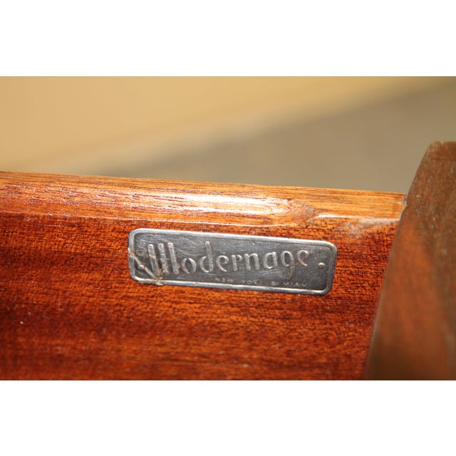 Wood 1930s Modernage African Mahogany Side Table For Sale - Image 7 of 10