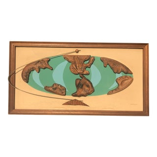 Witco Tiki World Atlas Wall Sculpture For Sale