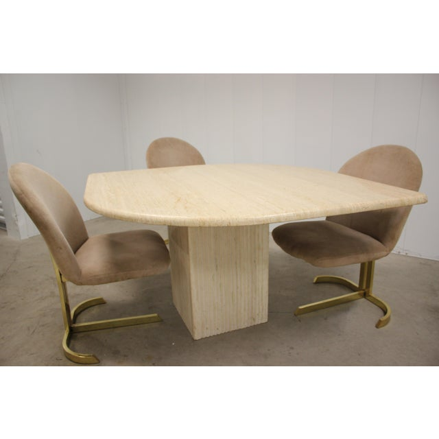 Space Age Milo Baughman Style Dining Room Table & Chairs For Sale In Detroit - Image 6 of 13