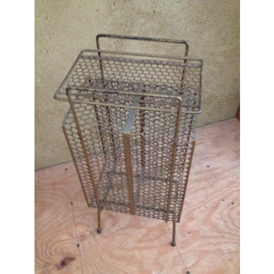 Metal Mesh Record Album Holder For Sale In Providence - Image 6 of 6