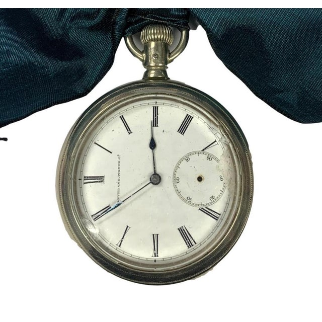 1920s heavy men's pocket watch ornament. Hand-made by a craftsman at the Paris Flea Market.