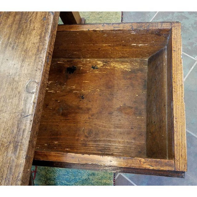 Wood Rustic French Oak Coffee Table For Sale - Image 7 of 10