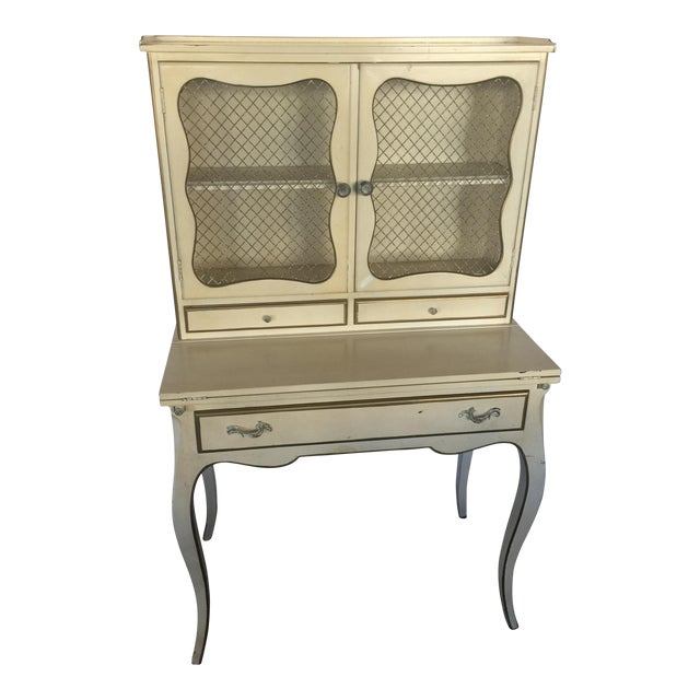 French Provincial Secretary Desk With Mesh Doors - Image 1 of 11