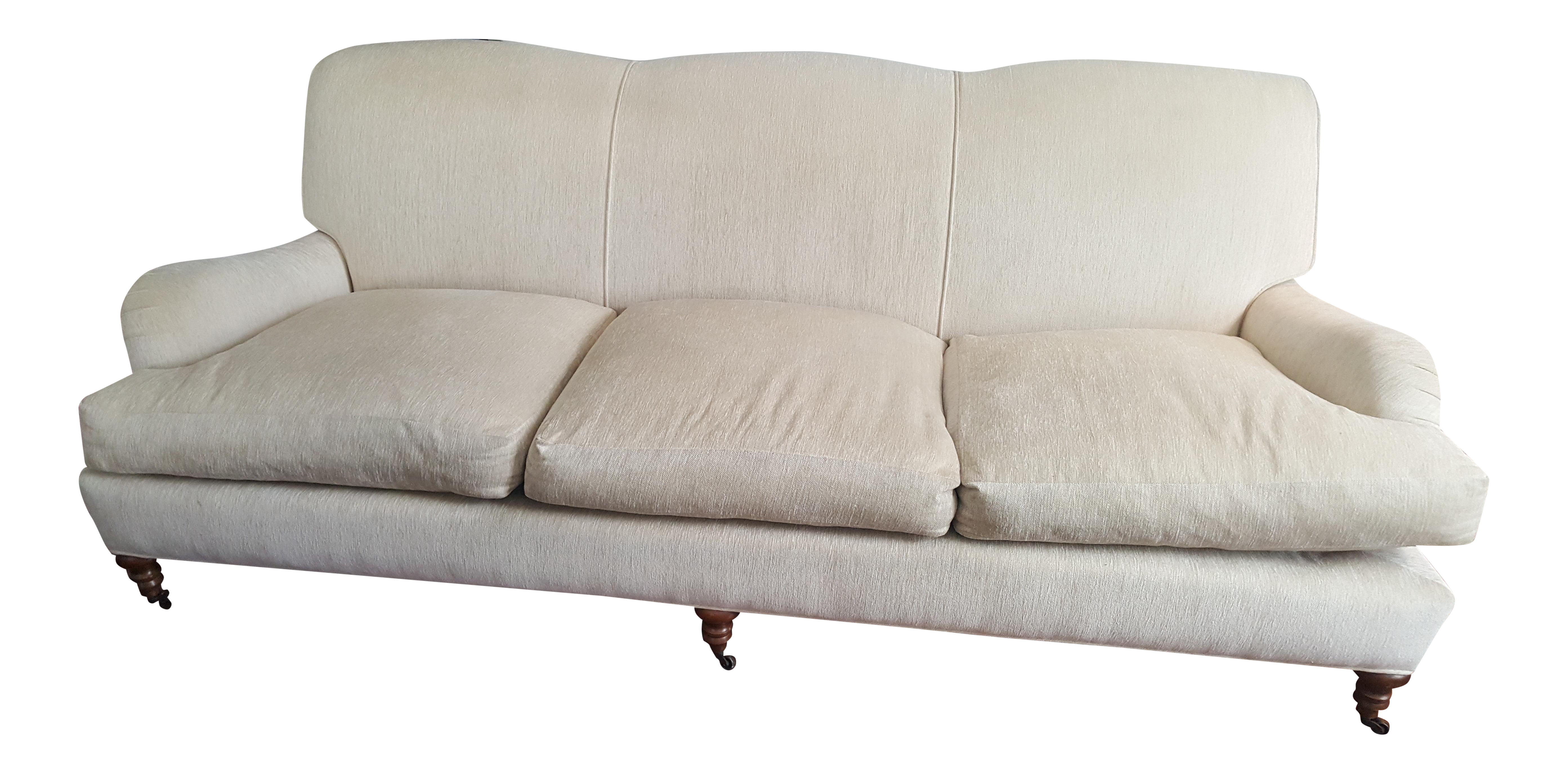 Lee Industries Chenille Roll Arm Sofa