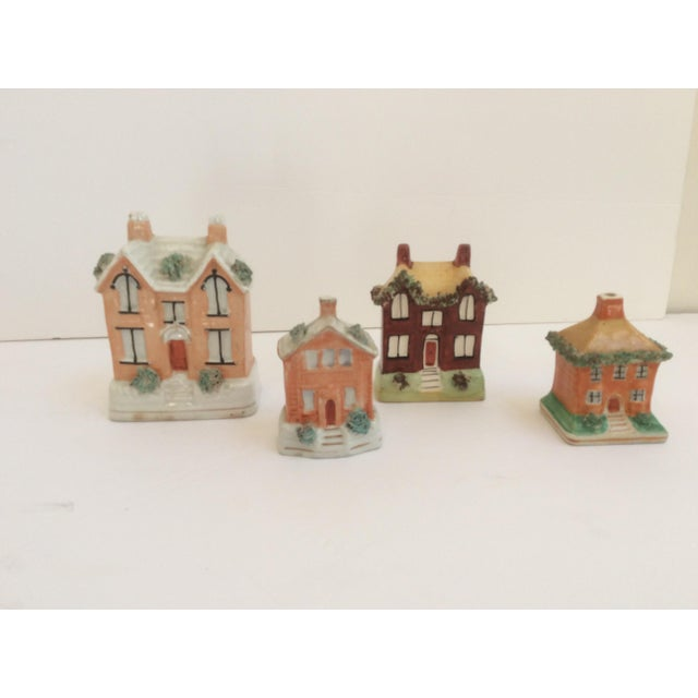 Cottage Staffordshire House Banks - Set of 4 For Sale - Image 3 of 9