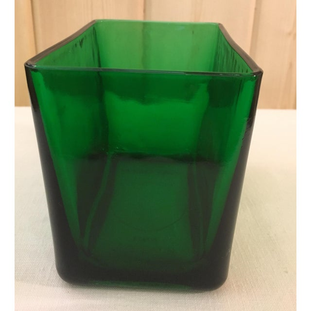 Mid-Century Emerald Green Glass Planter - Image 6 of 11