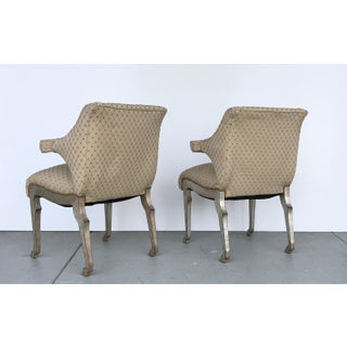 Mark Du Plantier Style Paw Feet Arm Chairs, Pair Preview