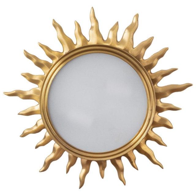Sun Burst Gilded Bronze Ceiling Fixture For Sale - Image 4 of 5