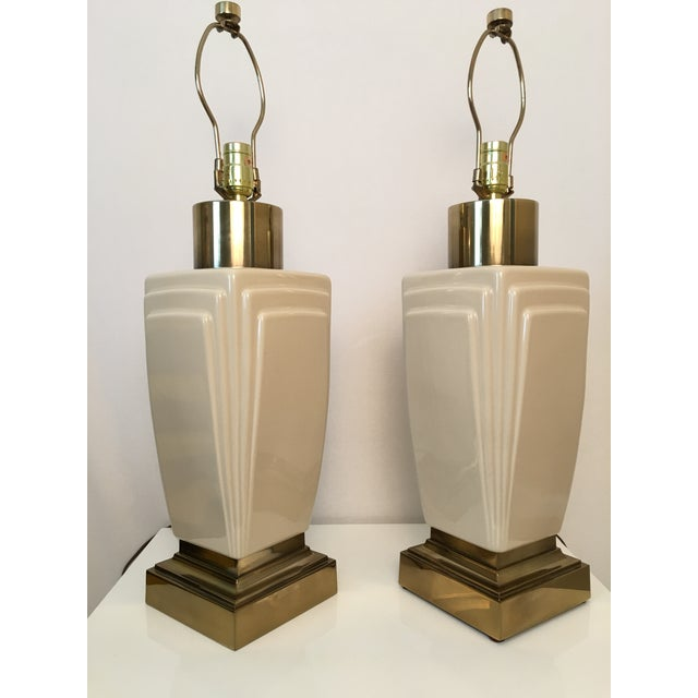 Vintage Stiffel Lamps >> 1980s Vintage Stiffel Lamps A Pair Chairish