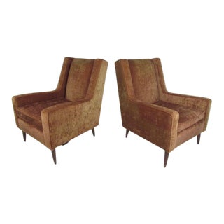 Paul McCobb Style Lounge Chairs - a Pair