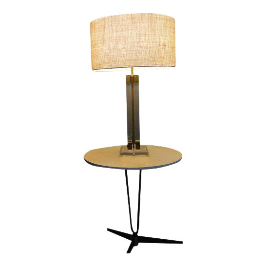 Lucite & Brass Table Lamp, Attributed to Charles Hollis Jones For Sale