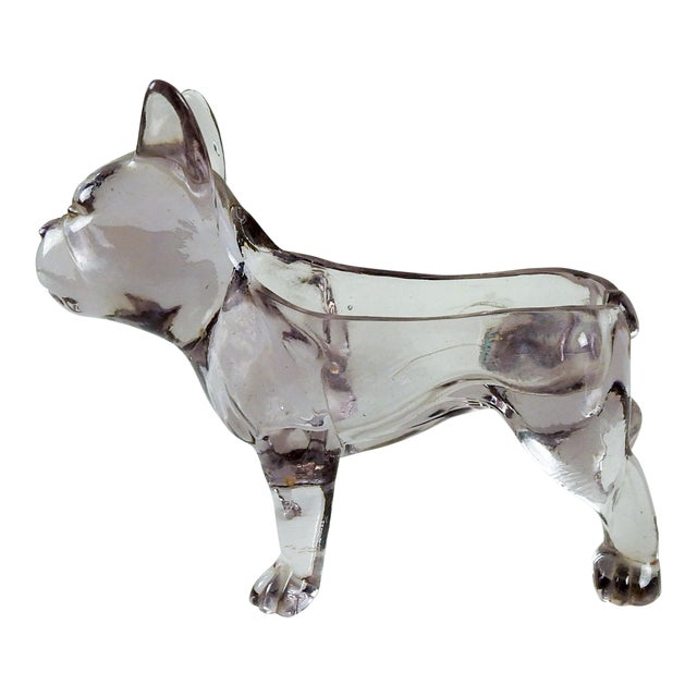 French Bull Dog Figural Glass Dish - Image 1 of 6