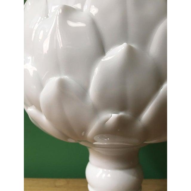 Contemporary White Porcelain Artichoke Sculpture For Sale - Image 3 of 6