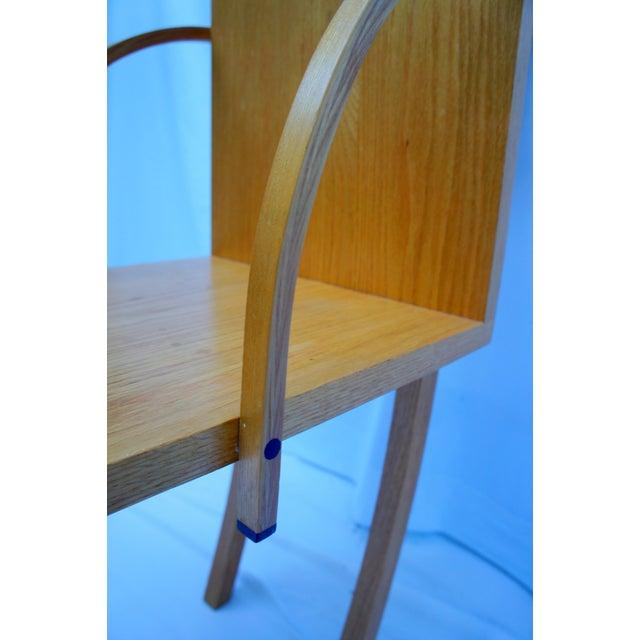 Brown 1970s Vintage Handmade Step Leaning Shelf For Sale - Image 8 of 12