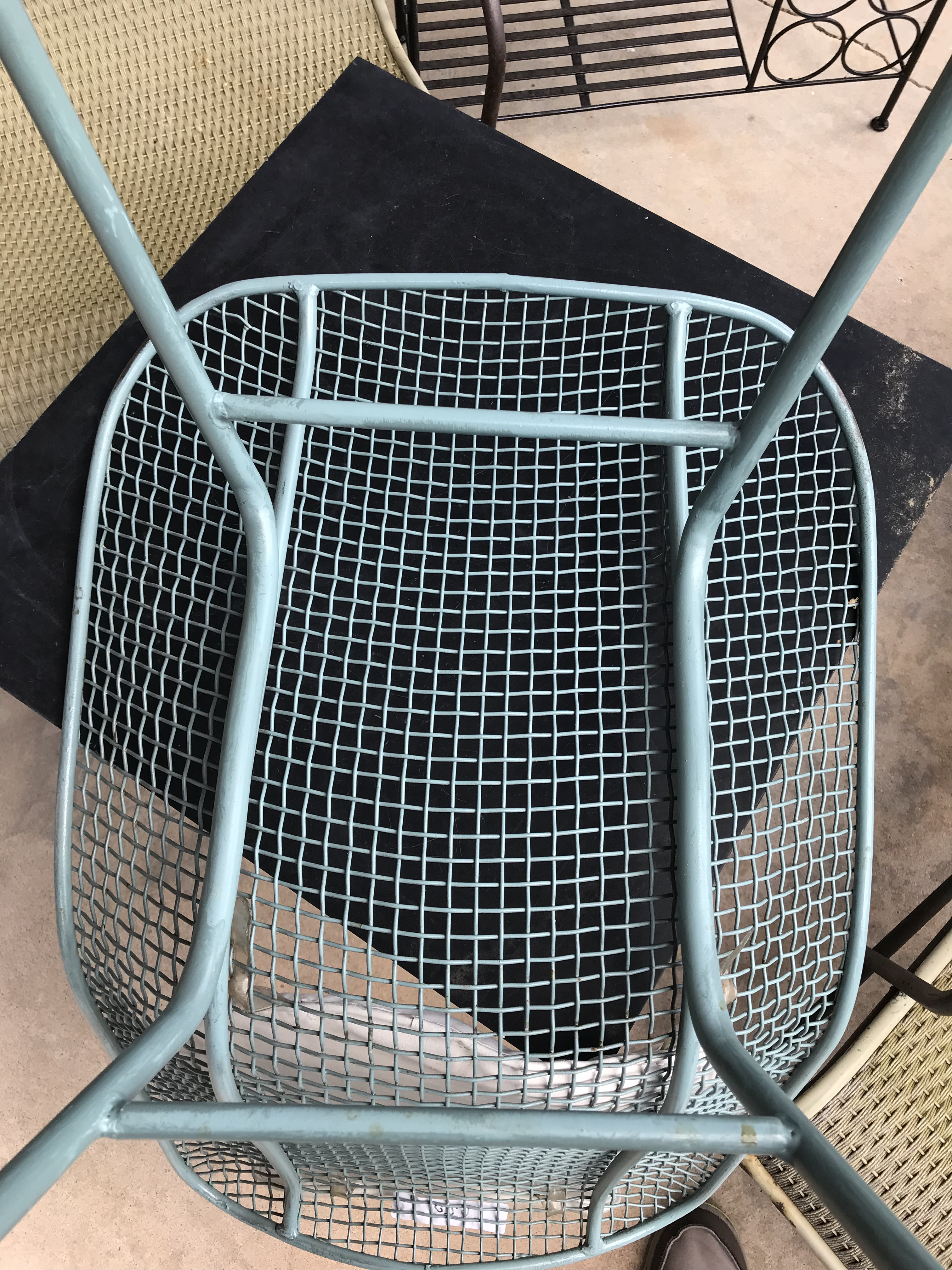 Modern 1960s Modern Russell Woodard Tiffany Blue Enamel Dining Chairs   Set  Of 4 For Sale