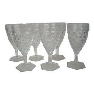 1950s American Fostoria Goblets - Set of 6 For Sale
