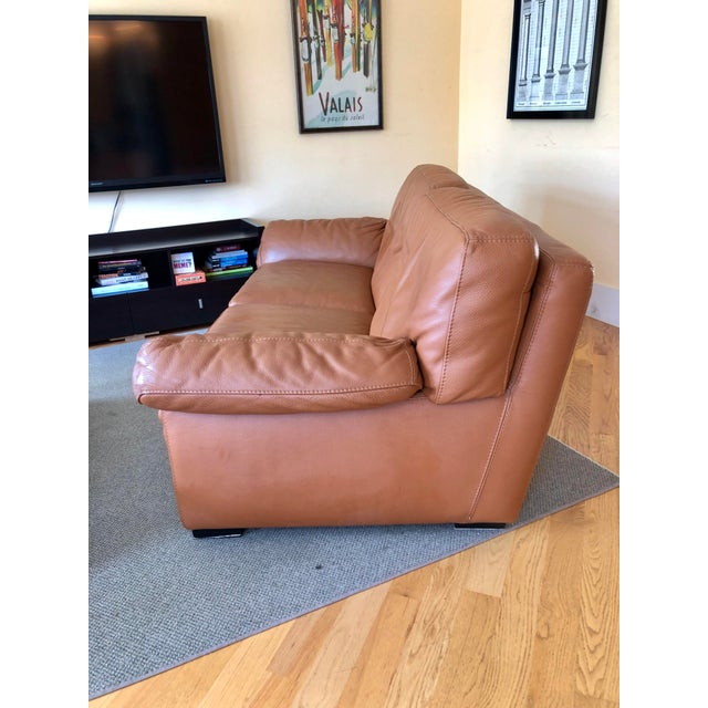Strange Mid Century Modern Roche Bobois Leather Loveseat Sofa Chairish Gmtry Best Dining Table And Chair Ideas Images Gmtryco