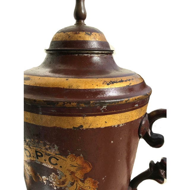 Early 19th Century Unique Early 19th C. English Tole Lamp For Sale - Image 11 of 12