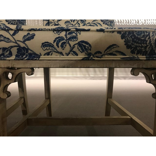 Blue 1990s Vintage Century Chinoiserie Chippendale Dining Chairs- Set of 8 For Sale - Image 8 of 11