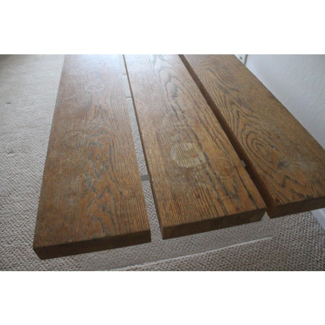 Mid-Century Modern Mid-Century Wood & Acrylic Coffee Table For Sale - Image 3 of 10