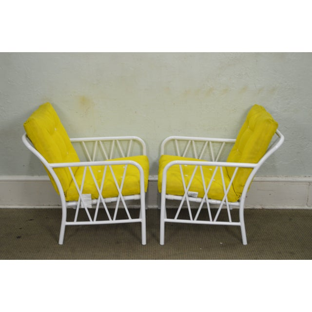 Mid-Century Modern Brown Jordan Style Mid-Century White Patio Lounge Chairs - A Pair For Sale - Image 3 of 10