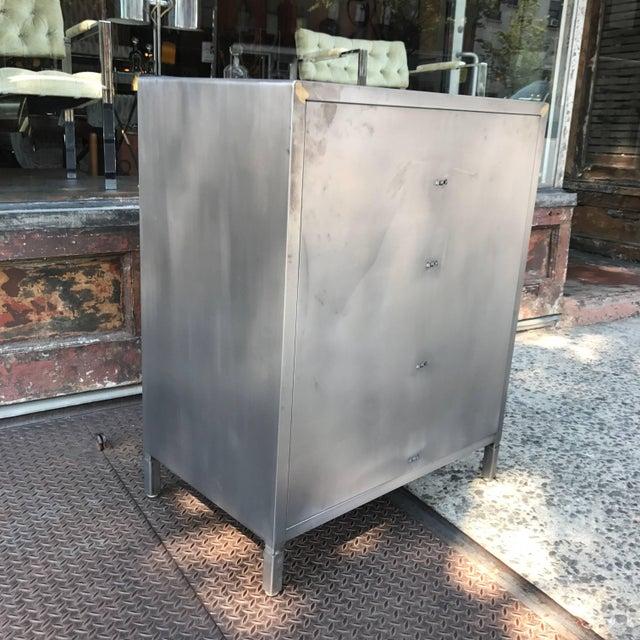 Machine Age Streamlined Brushed Steel Dresser by Superior Sleeprite For Sale - Image 9 of 10