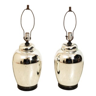 1970s Chrome Finish Table Lamps - a Pair For Sale