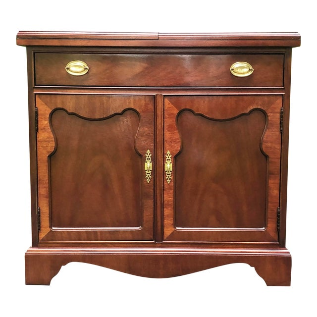 Thomasville Mahogany Collection Flip Top Server For Sale
