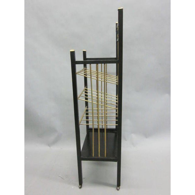 Traditional Viennese Secession Etagere / Magazine Stand in the Style of Koloman Moser For Sale - Image 3 of 10