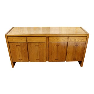Mid Century Modern Russel Wright for Conant Ball Wood Sideboard Credenza 1950s For Sale