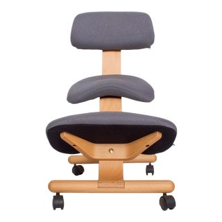Fully Balans Chair Ergonomic Kneeling Chair After Hans Christian Mengshoel. For Sale