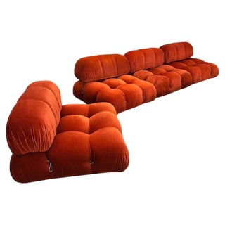 1970s Orange Camaleonda 4 Sectional Sofas by Mario Bellini, Italy For Sale