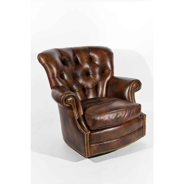 Chesterfield Style Tufted Rocker with Brass Nailheads For Sale - Image 11 of 11