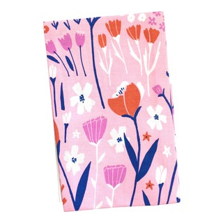 Poppy Floral Tea Towel For Sale