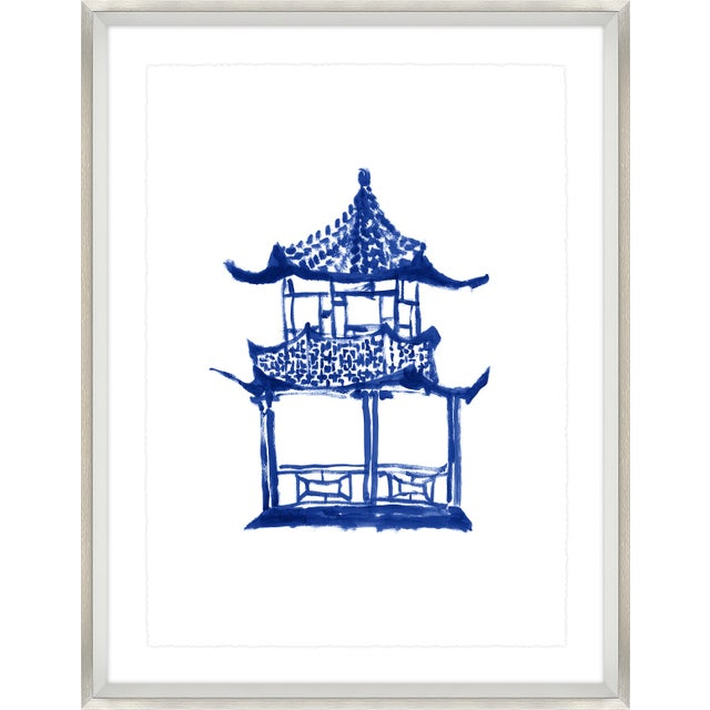 Sapphire Chinoiserie Print Set Framed Kenneth Ludwig Chicago - 17 Pieces For Sale - Image 10 of 12