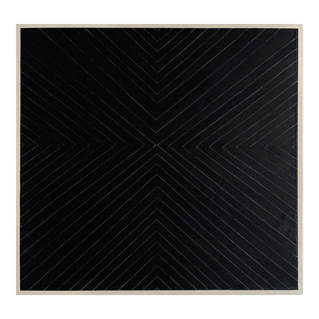 Contemporary Black Geometric Abstract Painting For Sale