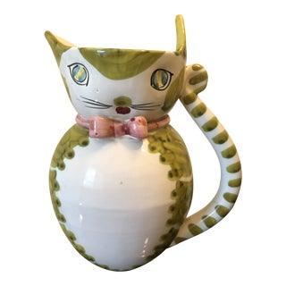 Cat Pitcher by Fratelli Fanciullacci Pottery Company, Italy For Sale