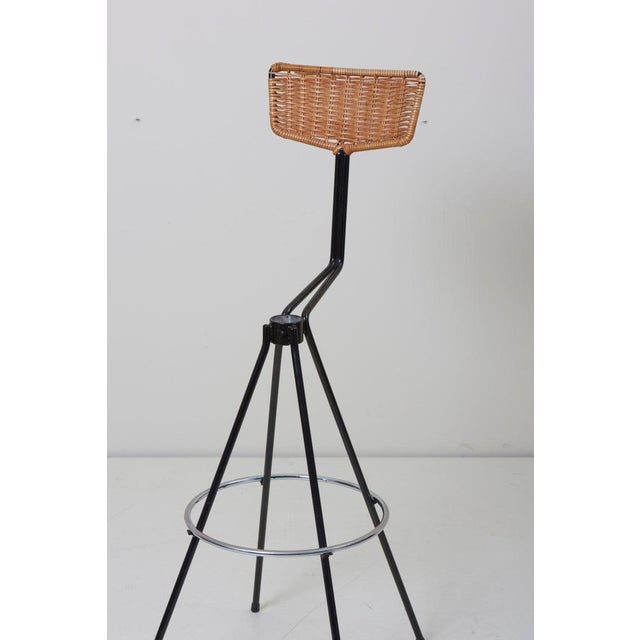 Animal Skin House Bar and Four Bar Stools by Prof. Herta-Maria Witzemann for Erwin Behr For Sale - Image 7 of 13