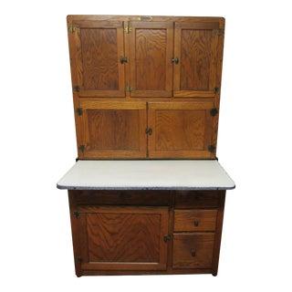 """1920s Americana Hoosier """"Beauty"""" Tiger Oak Kitchen Cabinet"""