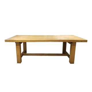"Boho Chic ""Old Plank"" Reclaimed Wood Farmhouse Table For Sale"