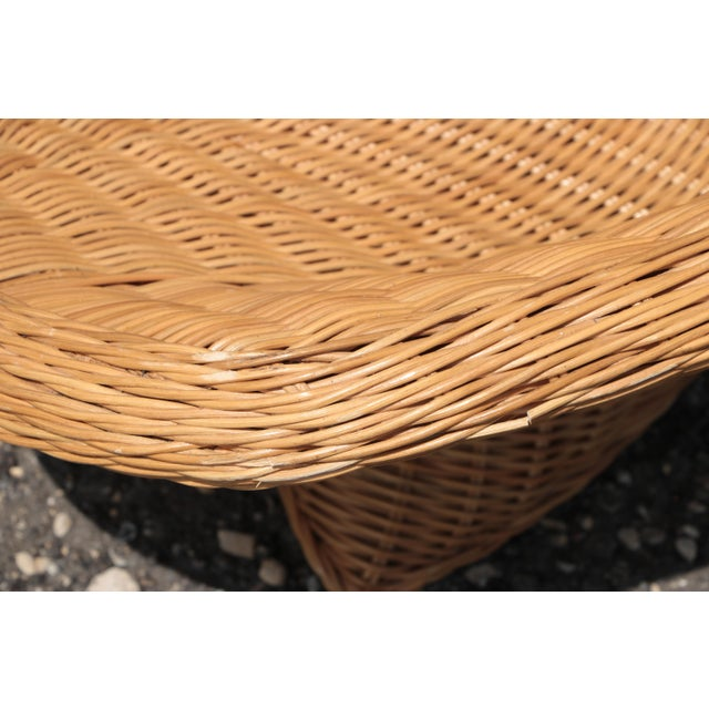Wicker Low Lounge Chairs - a Pair For Sale - Image 12 of 13