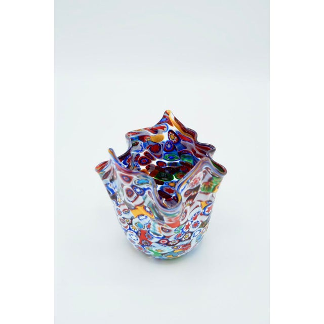 Vintage Murano Millefiori Handkerchief Vase For Sale - Image 10 of 12